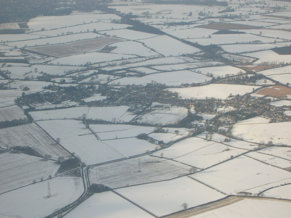 Snow over Paulerpsury & Pury End